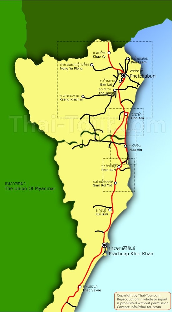 แผนที่เพชรบุรี